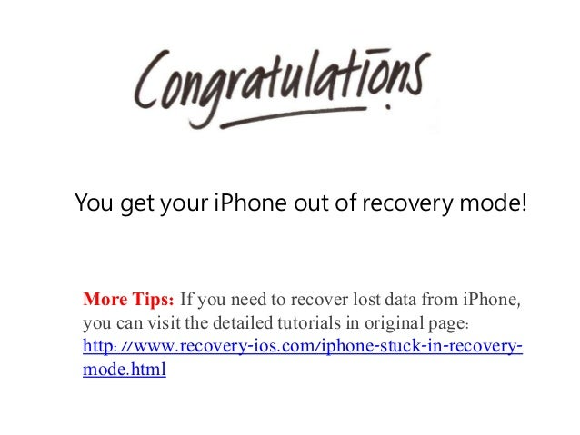 how to set iphone in recovery mode