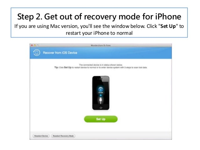 how to bring iphone out of recovery mode