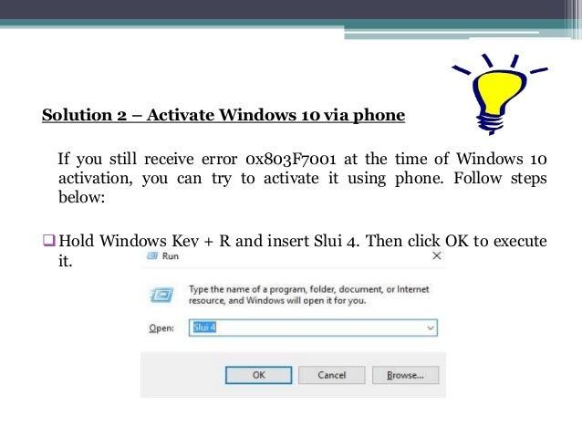 0x803f7001 windows 10