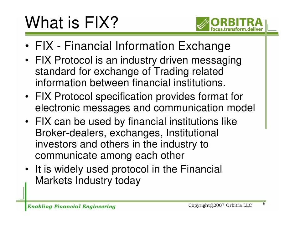 FIX Protocol and FX Trading - FX Trading Revolution | Your Free Independent Forex Source