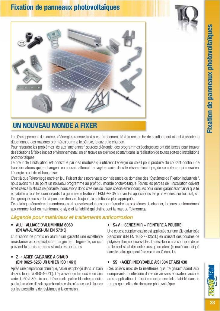 Fixation de panneaux photovoltaïques                                                                                      ...