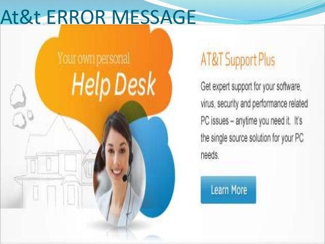 Atu0026t ERROR MESSAGE; 4.