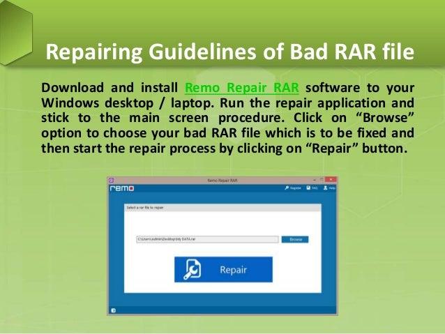 Fix Bad RAR Archive on Windows PC
