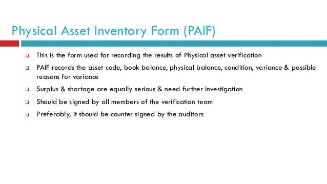 asset inventory form