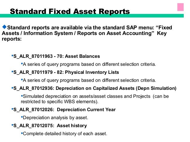 Sap fixed assets accounting for Fixed asset policy template