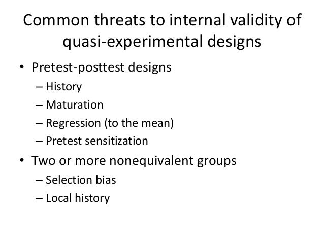 one shot case study internal validity A prerequisite of external validity one meant that the internal validity of an  experiment  encounters are 'one-shot' in nature [] situations in which, by   this as a case study by which to illustrate that many of the ideas formulated  around the.