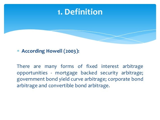 Fixed income trading strategies