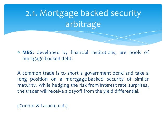 Mortgage backed securities trading strategies