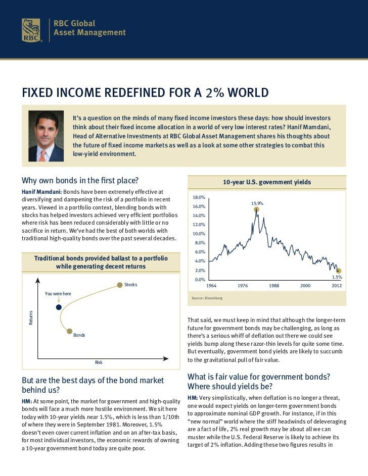 FIXED INCOME REDEFINED FOR A 2% WORLD                                It's a question on the minds of many fixed income inv...