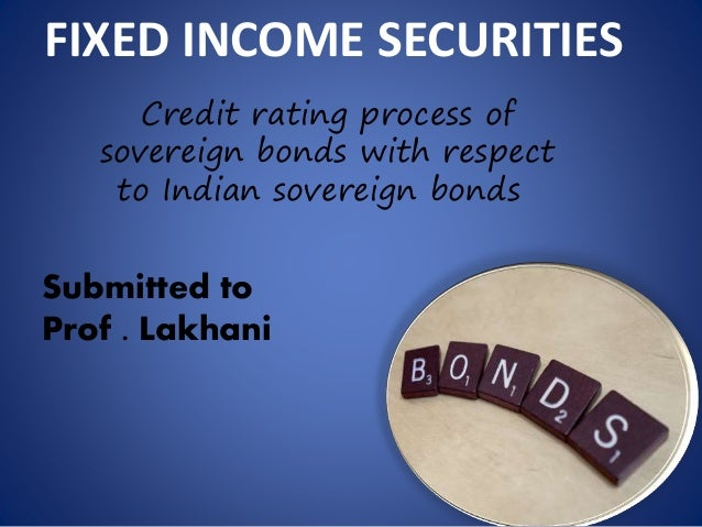 Credit rating process of sovereign bonds
