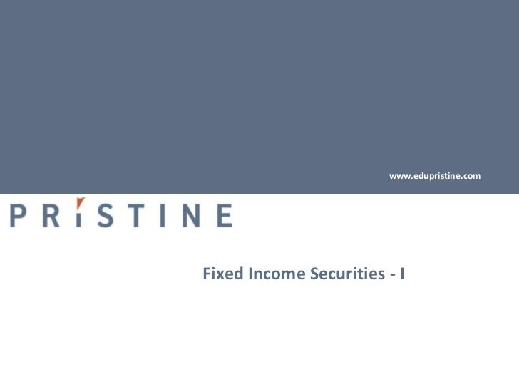 fixed income securities primer