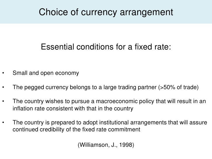 fixed versus floating exchange rate system 982 fixed floating exchange rates - authorstream presentation 982 fixed floating exchange  purely by market demand and supply of the currency both international trade flows and capital flows affect the exchange rate under a floating system no target for the exchange rate is set by the government there is no need for official.