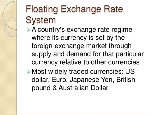 Fix exchange rate policy