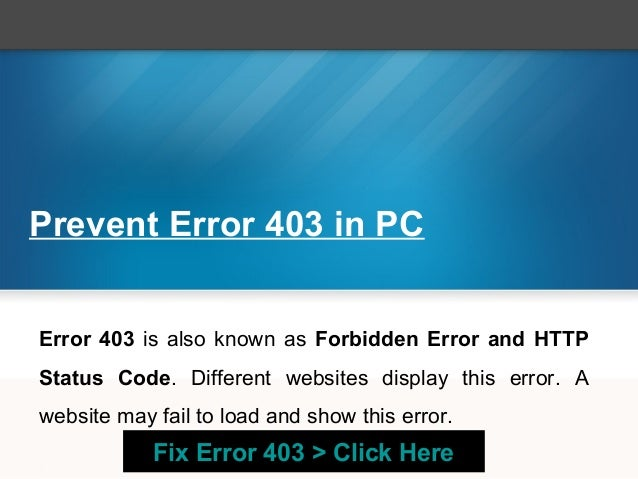 How To Fix Error 403