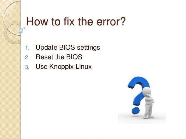 How to fix HP laptop error