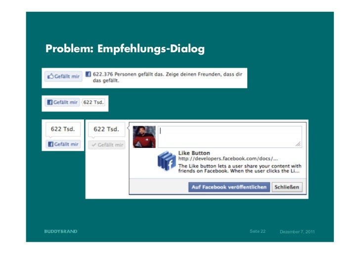 Problem: Empfehlungs-Dialog                              Seite 22   Dezember 7, 2011