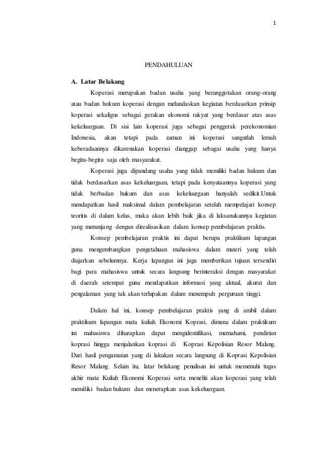 Contoh Laporan Observasi Koperasi - Laporan 7
