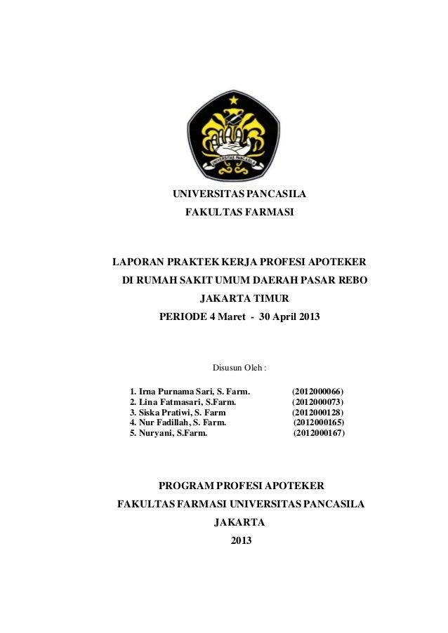 Laporan Pkpa Di Rsud Pasar Rebo Jakarta Timur