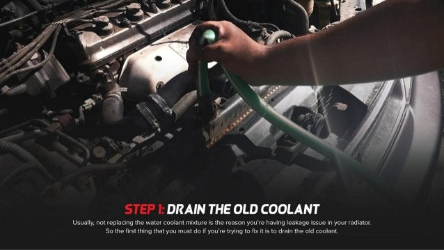 Fix Radiator Leak With These Simple Steps
