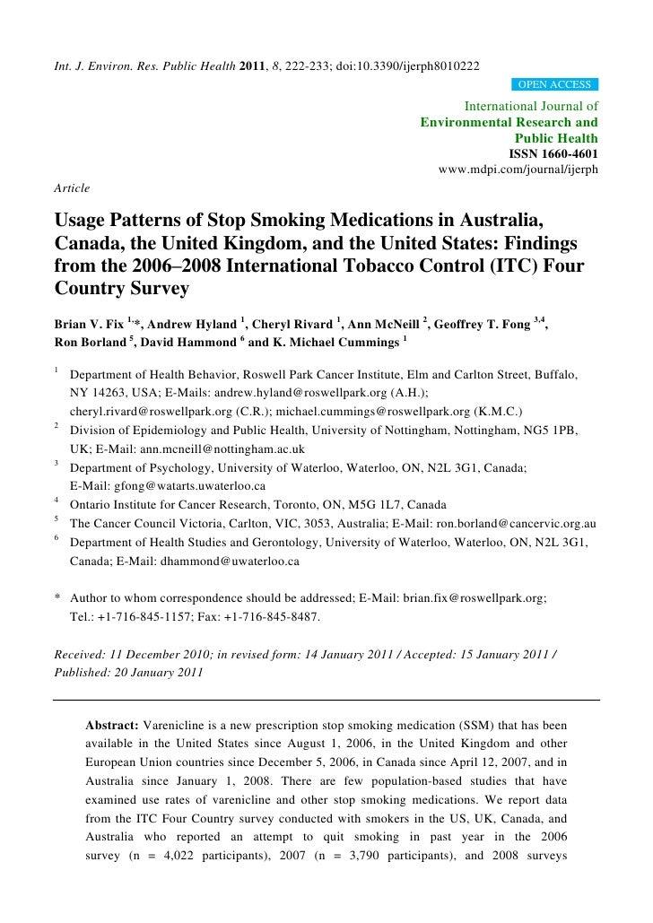 Int. J. Environ. Res. Public Health 2011, 8, 222-233; doi:10.3390/ijerph8010222                                           ...