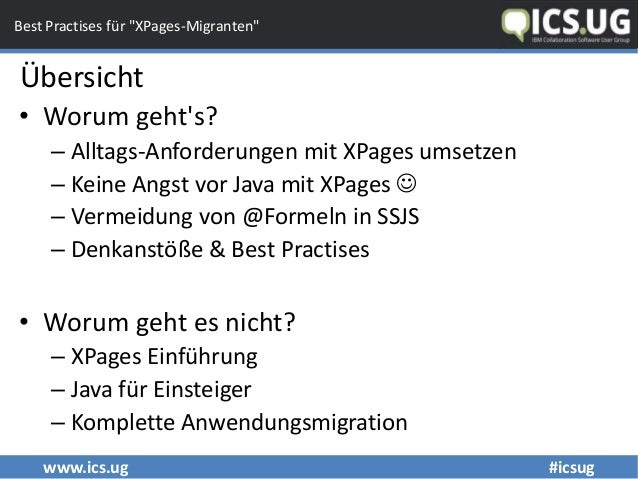 "Fix & fertig: Best Practises für ""XPages-Migranten"" Slide 3"