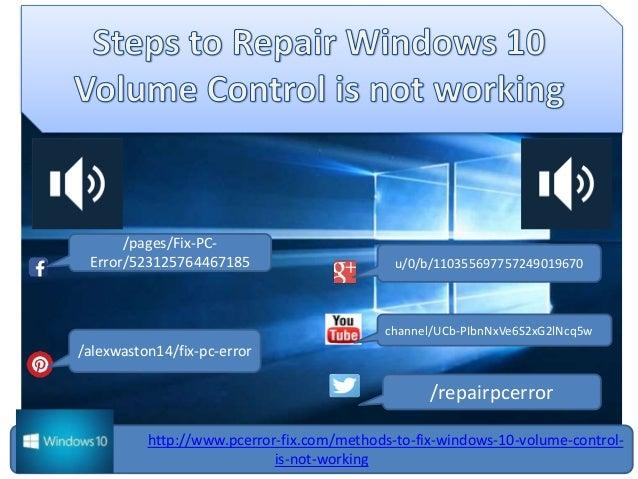 Top 2 methods to fix windows 10 volume control is not working