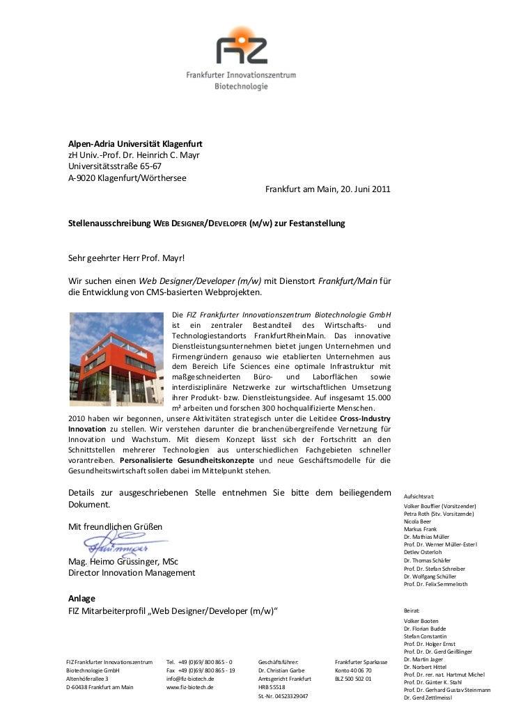 Alpen-Adria Universität KlagenfurtzH Univ.-Prof. Dr. Heinrich C. MayrUniversitätsstraße 65-67A-9020 Klagenfurt/Wörthersee ...