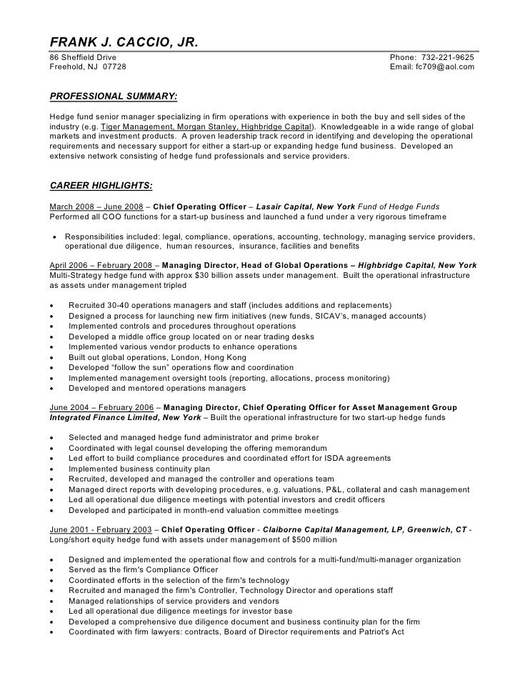 Fund Administrator Resume
