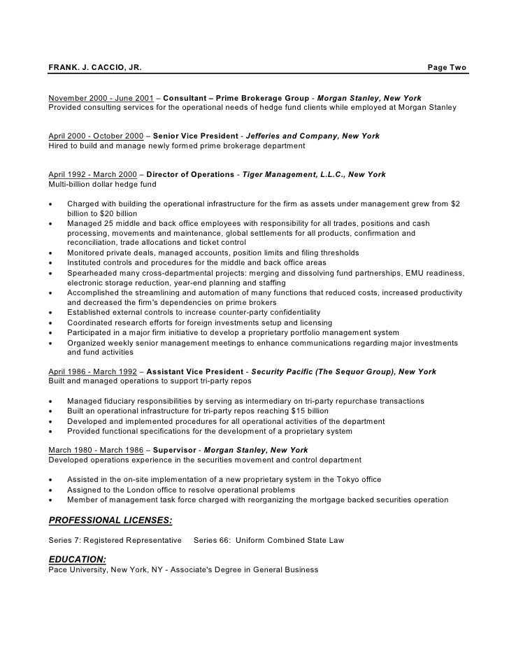 hedge fund resume sample - Besik.eighty3.co