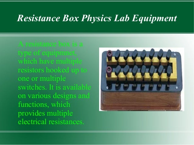 Physics Lab Equipment And Their Uses