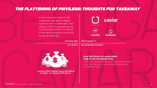 THE FLATTENING OF PRIVILEGE: THOUGHTS FOR TAKEAWAY In the future, any industry with traditional roles and privileged exper...