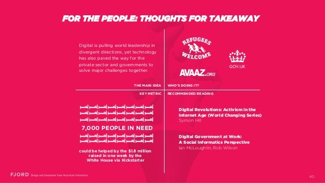 FOR THE PEOPLE: THOUGHTS FOR TAKEAWAY Digital Revolutions: Activism in the Internet Age (World Changing Series) Symon Hill...