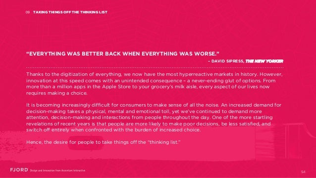 """TAKING THINGS OFF THE THINKING LIST09 """"EVERYTHING WAS BETTER BACK WHEN EVERYTHING WAS WORSE."""" – DAVID SIPRESS, THE NEW YOR..."""