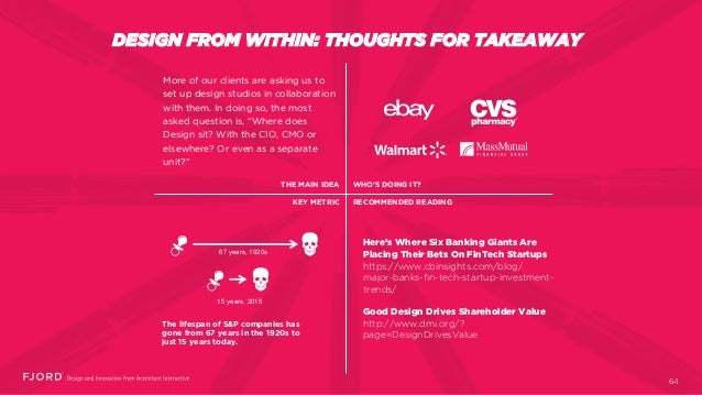 DESIGN FROM WITHIN: THOUGHTS FOR TAKEAWAY More of our clients are asking us to set up design studios in collaboration with...
