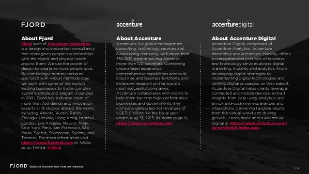 About Fjord Fjord, part of Accenture Interactive, is a design and innovation consultancy that reimagines people's relation...