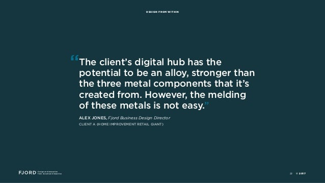 """Design and Innovation from Accenture Interactive DESIGN FROM WITHIN """"The client's digital hub has the potential to be an a..."""