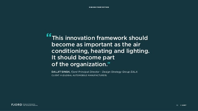 """Design and Innovation from Accenture Interactive DESIGN FROM WITHIN """"This innovation framework should become as important ..."""