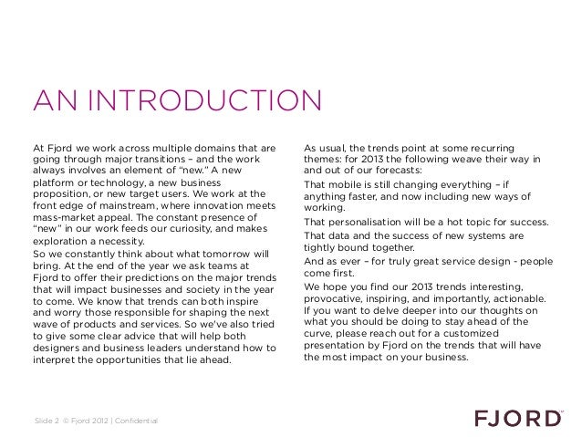 AN INTRODUCTIONAt Fjord we work across multiple domains that are      As usual, the trends point at some recurringgoing th...