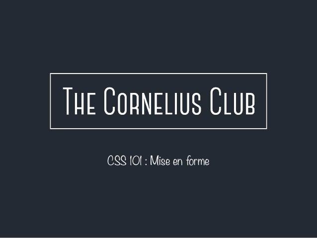 CSS 101 : Mise en forme
