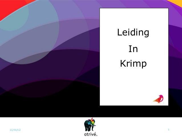 Leiding             In           Krimp11/01/12             1