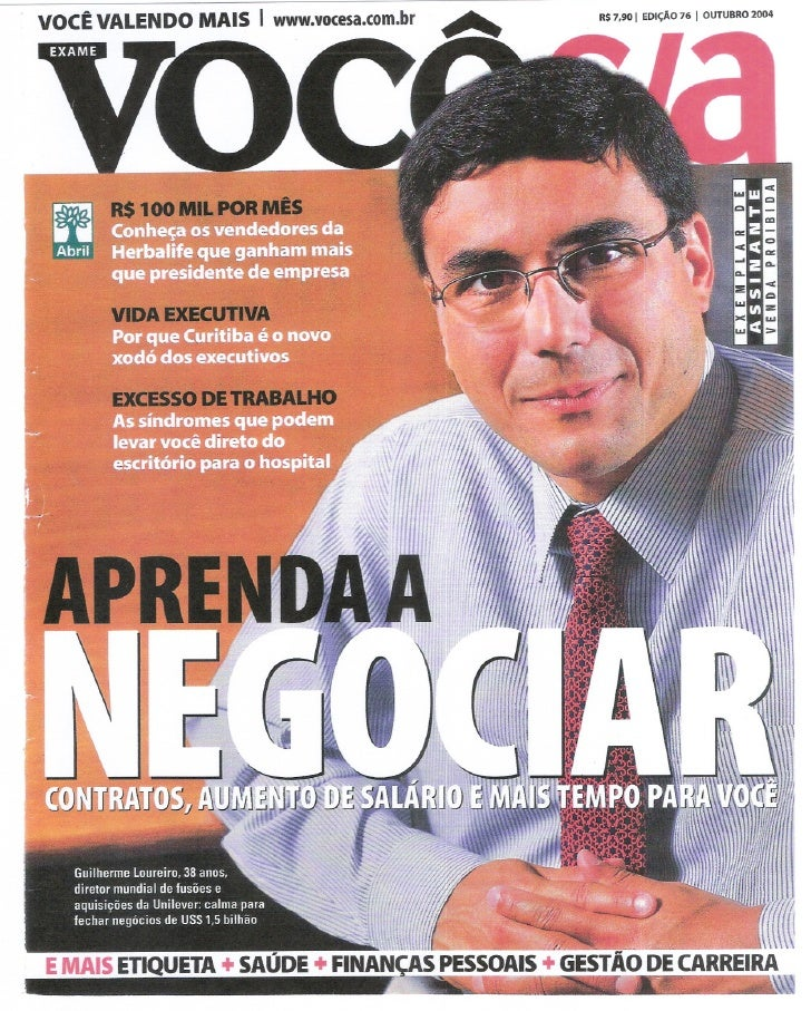 I EDiÇÃO        I OUTUBRO      VOCÊ VALENDO MAIS                   I   www.vocesa.com.br             R$ 7,90              ...