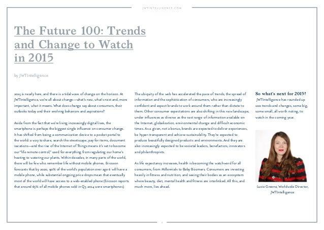 JWT: The Future 100 (December 2014) Slide 3