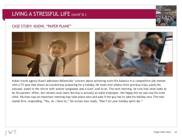 """LIVING A STRESSFUL LIFE (cont'd.) CASE STUDY: KUONI, """"PAPER PLANE""""  Indian travel agency Kuoni addresses Millennials' conc..."""