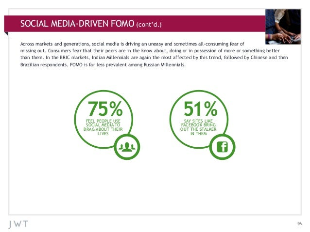 SOCIAL MEDIA-DRIVEN FOMO (cont'd.) Across markets and generations, social media is driving an uneasy and sometimes all-con...