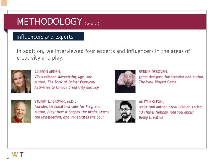 METHODOLOGY                 (cont'd.)Influencers and expertsIn addition, we interviewed four experts and influencers in th...