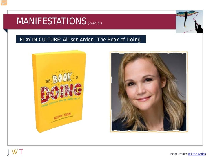 MANIFESTATIONS             (cont'd.)PLAY IN CULTURE: Allison Arden, The Book of Doing                                     ...