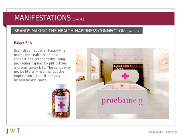 MANIFESTATIONS                       (contd.)BRANDS MAKING THE HEALTH-HAPPINESS CONNECTION    (cont'd.)Happy PillsSpanish ...