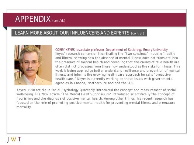 APPENDIX              (cont'd.)LEARN MORE ABOUT OUR INFLUENCERS AND EXPERTS                              (cont'd.)        ...