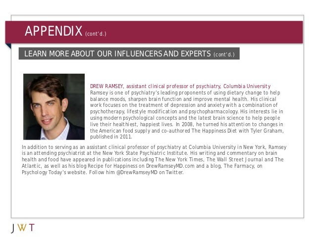APPENDIX                  (cont'd.) LEARN MORE ABOUT OUR INFLUENCERS AND EXPERTS                                      (con...