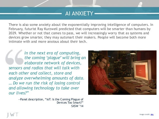 There is also some anxiety about the exponentially improving intelligence of computers. In February, futurist Ray Kurzweil...